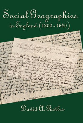 SOCIAL GEOGRAPHIES IN ENGLAND (1200-1640)